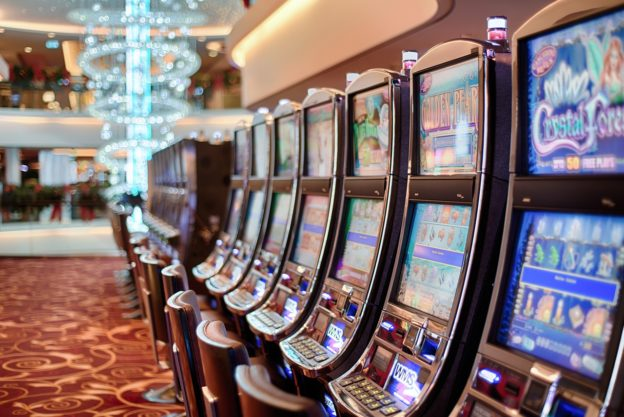 "Brian Britt ""Retirement Jackpot"" blog post image of a row of slot machines"